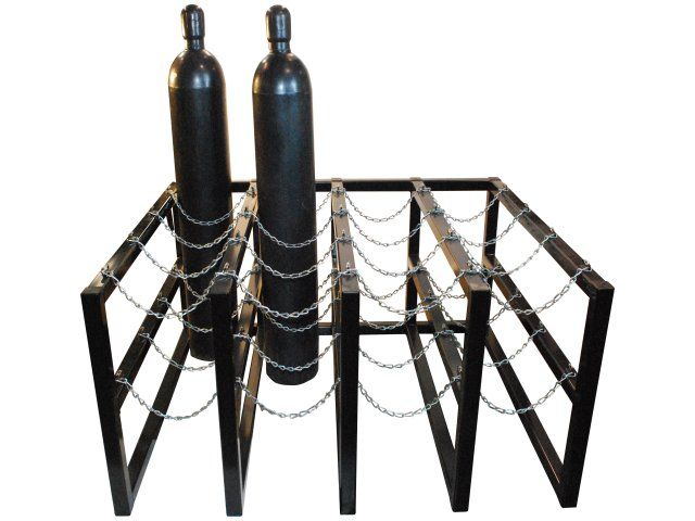 Gas cylinder rack barricade 16 tanks 4x4 br4x4fs usasafety com