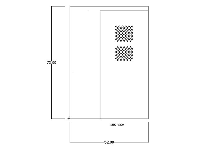 Gas Cylinder Cabinet Firewall Vertical Storage Cb5080fs