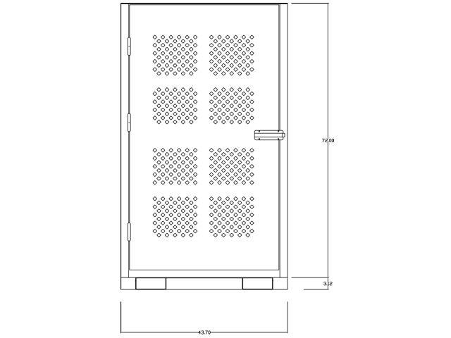Gas Cylinder Cabinet Forklift Base 20 Tanks Vertical