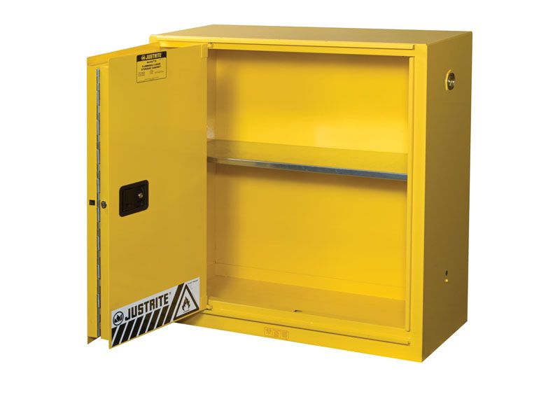 Flammable Storage Cabinet Bi Fold Self Close Door 30