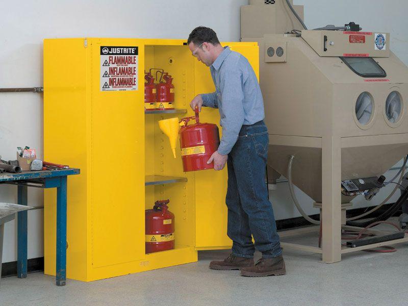 45 Gallons - Self-Closing Doors - Flammable Storage Cabinet - Flammable Storage Cabinet, Self-Closing Doors, 45 Gallons