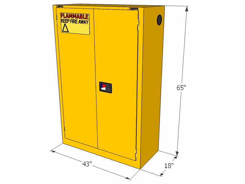 Closing Doors F : Flammable storage cabinet self closing doors gallons
