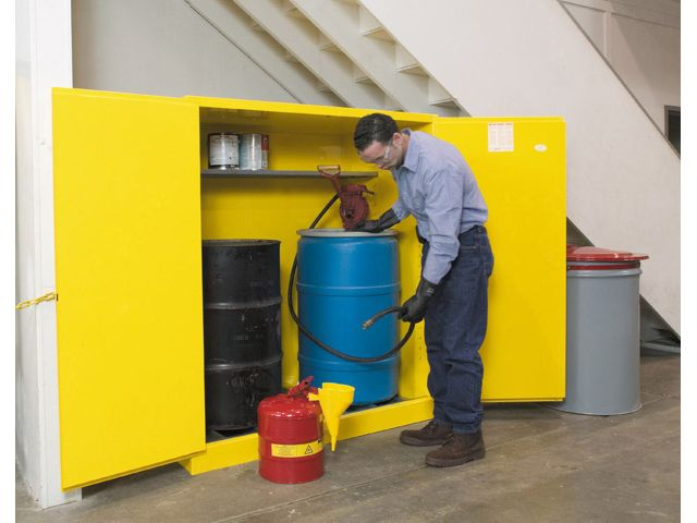 flammable storage cabinet, 2 - 55 gallon drum, cb899100jr