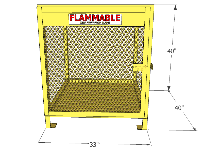 ... 6 Cylinders   Propane And Forklift Tanks   Vertical Storage   Mesh    Gas Cylinder Cage ...