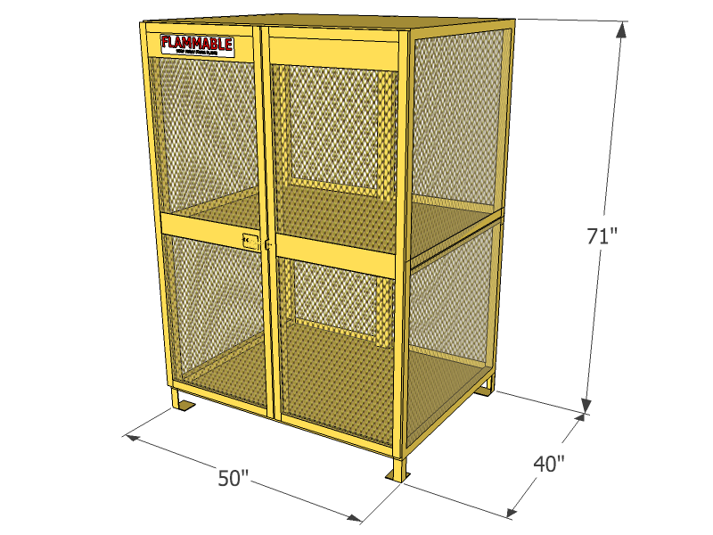 18 cylinders propane and forklift tanks vertical storage mesh gas cylinder cage - Gas Cylinder Cages