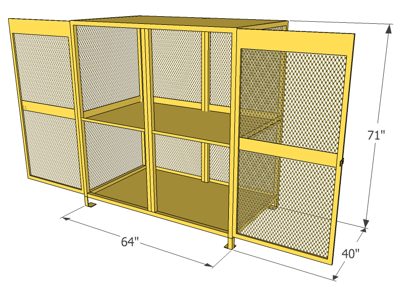 Gas Cylinder Cage 24 Propane Tanks Vertical Storage