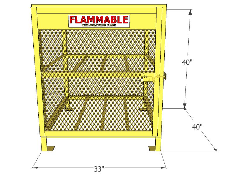 Gas Cylinder Cage 4 Propane Tanks Horizontal Storage