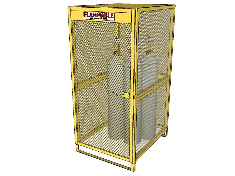 Gas Cylinder Locker 10 Tanks Vertical Storage Cbcv051jp
