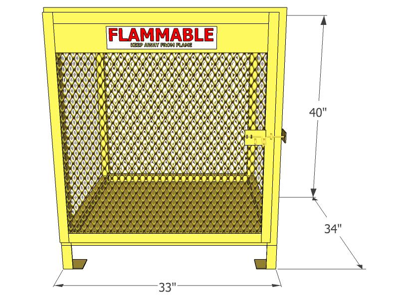 Gas Cylinder Cage 4 Propane Tanks Vertical Storage