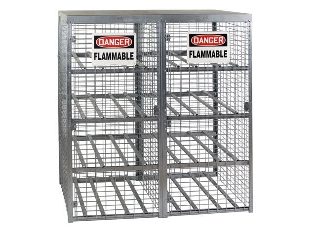 Propane Tank Cage Outdoor Storage 16 Cylinders