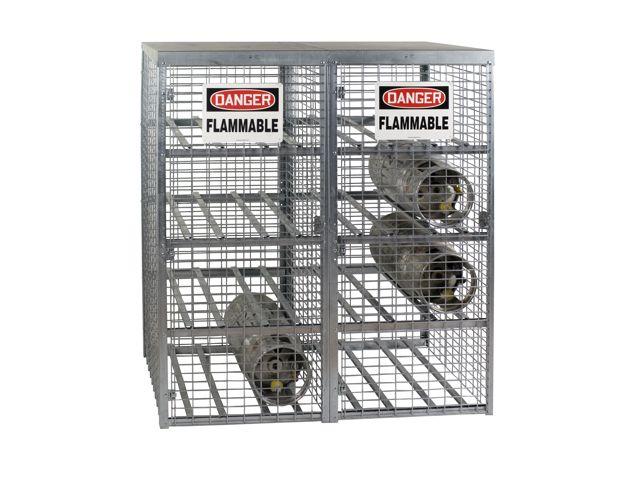 16 Propane Tanks   Outdoor, Horizontal Storage   Galvanized   Gas Cylinder  Cabinet