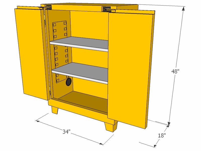 Flammable Storage Cabinet Forklift Self Closing Doors