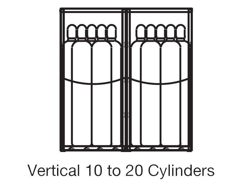 Gas Cylinder Cabinet Outdoor Storage 20 Cylinders