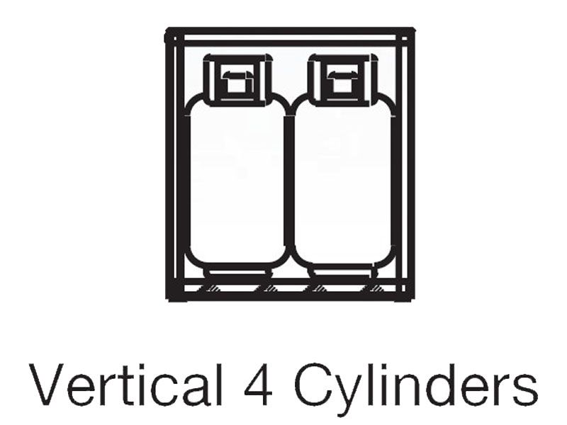 4 Propane Tanks Outdoor Vertical Storage Aluminum Gas Cylinder Cage