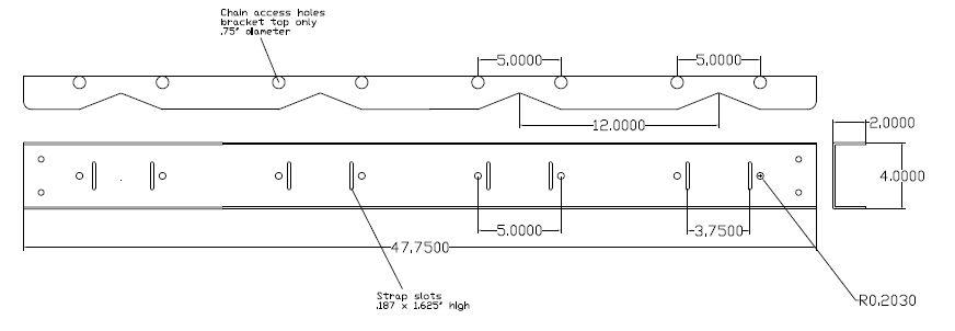 Gas Cylinder Bracket 4 Tanks Wall Mount Gb401fs
