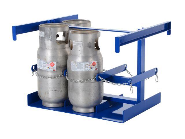 6 Cylinder Vertical Forklift Cylinder Storage Rack