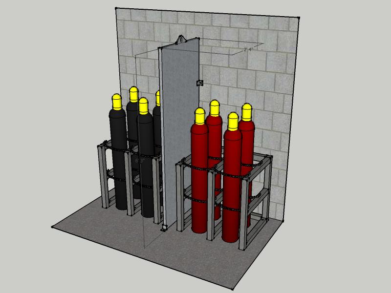 Firewall Barrier 2 Cylinder Deep 1 Hour Rated Fwfnfs