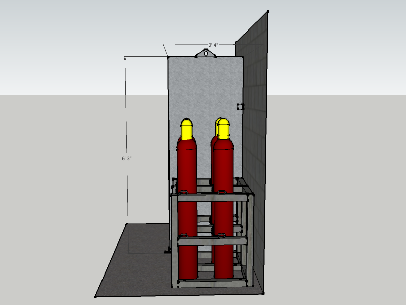Firewall Barrier, 2 Cylinder Deep, 1-Hour Rated, FWFNFS ...