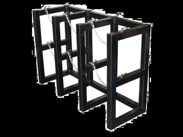 High Pressure Bottle Rack : Gas cylinder rack barricade tanks br fs