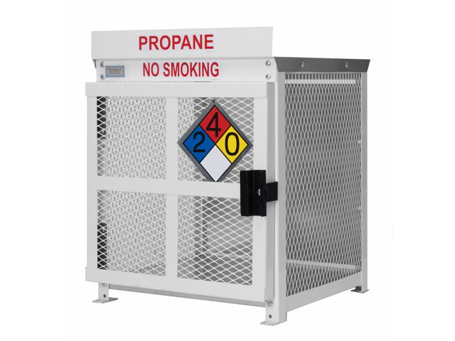 4 Propane Tanks 20 Lb Outdoor Vertical Storage Steel Mesh Gas Cylinder Cage