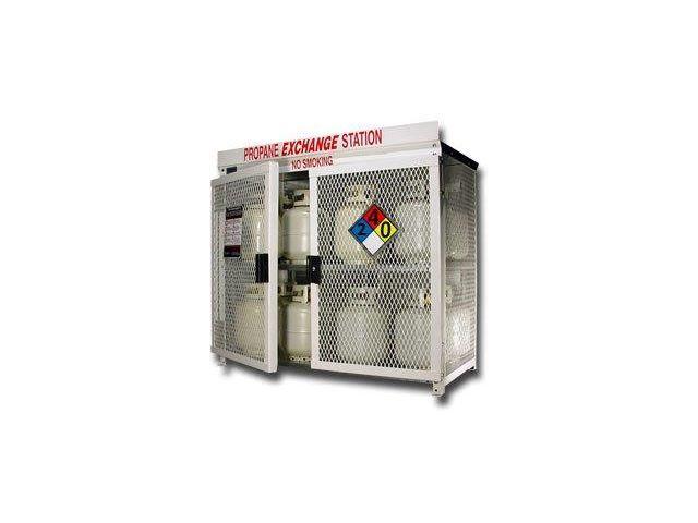 16 Propane Tanks 20 Lb Outdoor Vertical Storage 2 Doors Steel Mesh Gas Cylinder Cage