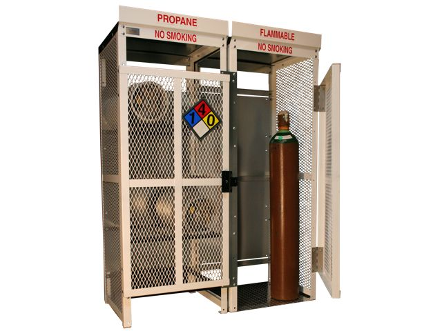 8 Propane Tanks (33 LB) And 8 Large Tanks   Combo Storage   Outdoor   Steel  U0026 Mesh   Gas Cylinder Cage