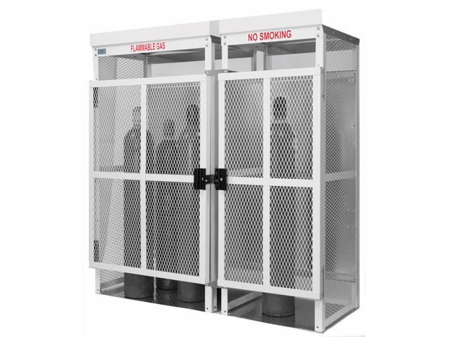 20 Cylinders   Large Tanks   Outdoor   Vertical Storage   Steel U0026 Mesh    Gas Cylinder Cage