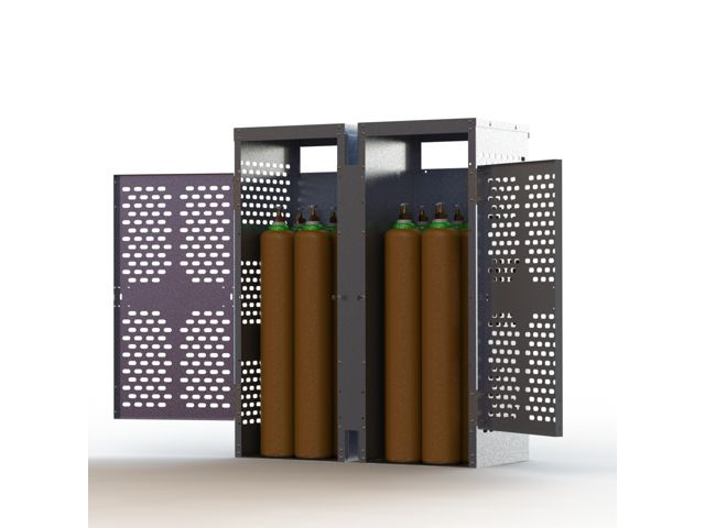 Aluminum Gas Cylinder Locker 16 Large Tanks Firewall