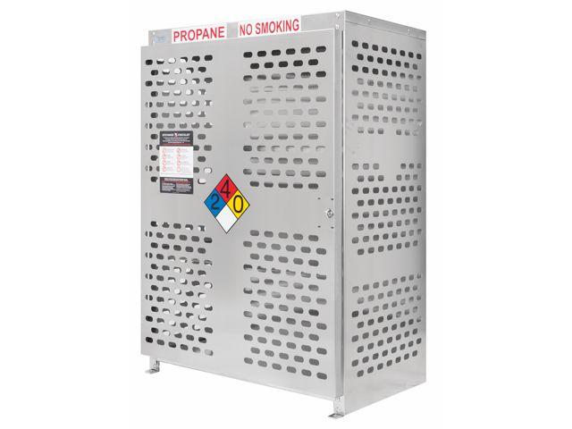 18 Propane Tanks 20 Lb Outdoor Vertical Storage Laser Cut Aluminum Gas Cylinder Cage