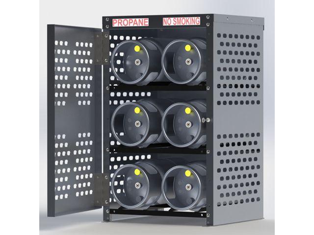 Propane Tank Cage 6 Cylinders 33lb Horizontal Storage