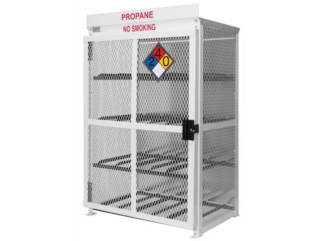 12 Propane Tanks (33 LB)   Outdoor   Horizontal Storage   Steel U0026 Mesh    Gas Cylinder Cage