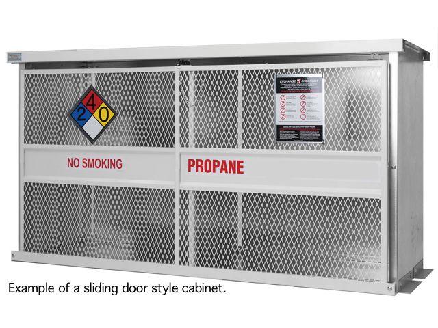 Propane Cage 16 Tanks 33lb Outdoor Sliding Door