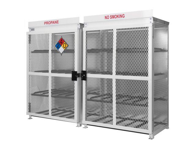 24 Propane Tanks (33 LB)   Outdoor   Horizontal Storage   Steel U0026 Mesh    Gas Cylinder Cage