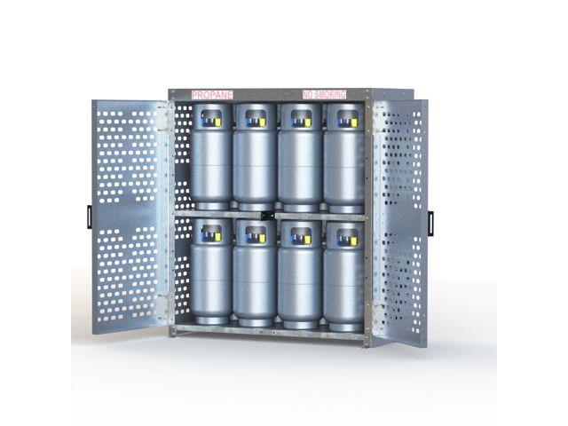 Gas Cylinder Cage 16 Propane Tanks 33 Lb Aluminum