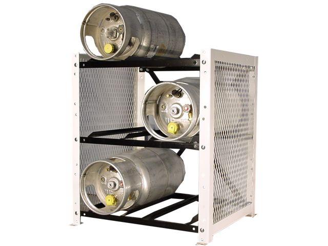 Gas Cylinder Rack 6 Propane Tanks 33lb Horizontal
