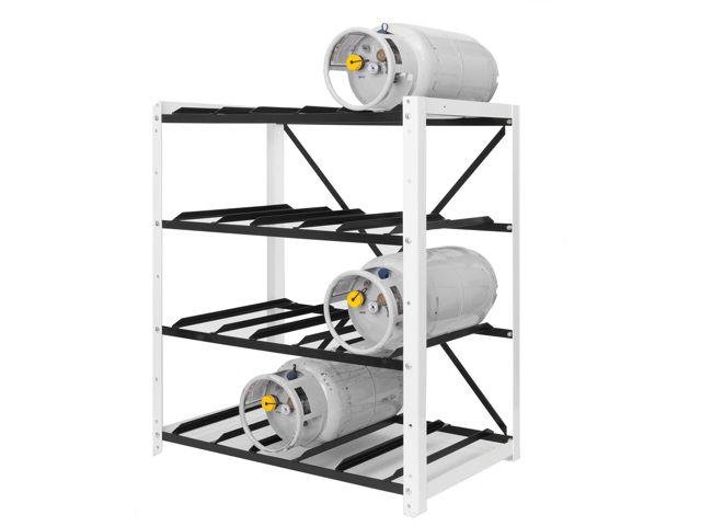 Gas Cylinder Rack 12 Propane Tanks 33lb Horizontal