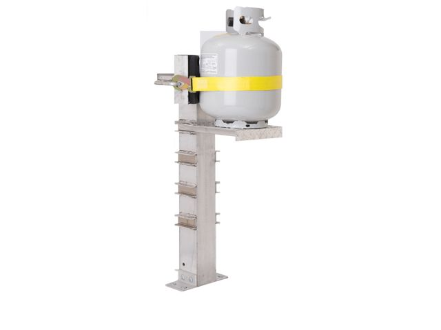 Propane Tank Vise 1 Cylinder 20 100lb Adjustable Shelf