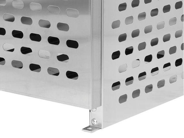 6 Propane Tanks (33 LB)   Outdoor   Horizontal Storage   2 Shelves   Laser  Cut Aluminum   Gas Cylinder Cage